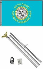 3x5 State of South Dakota Flag Aluminum Pole Kit Set 3'x5'