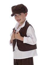 Kids Childrens Victorian Boy Oliver Twist Fancy Dress Waistcoat Costume P6947