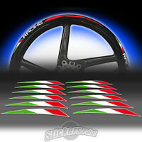 kit 12 Adesivi BANDIERINE ITALIA per strisce RACING5 cerchi ruote stickers moto