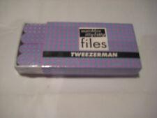 Tweezerman Matchbox Itty Bitty Files - Blue on Lavender - Diamonds
