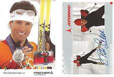 2 Autogramme AK Peter Schlickenrieder Ski Langlauf Silber Olympia 2002 Salt Lake