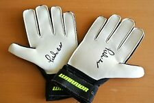 M Surname Initial Signed Football Gloves