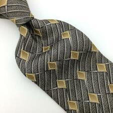 Perry Ellis Tie Geometric Diamonds Gold Black Silk Necktie Boys Child I17-38 New