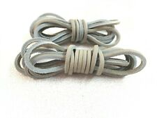 """ONE PAIR  LIGHT GRAY - 72"""" Rawhide Leather Shoelaces Strings Shoe Boot Laces"""