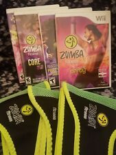 Wii Zumba Bundle 4 games 3 belts