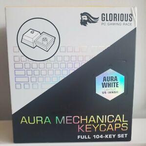 NIB Glorious Aura Keycaps Aura White Full 104 Key Set