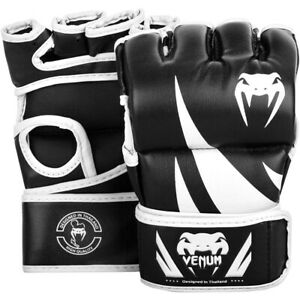 Venum Challenger Hook and Loop MMA Gloves without Thumbs - Black