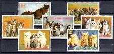 CHAT Guinée Equatoriale série de 7 timbres ** NEUF PORT OFFERT - CAT KATZE