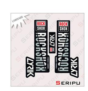 X 1 KIT ROCKSHOX LYRIC PLASTIFICADO STICKERS DECAL MOUNTAIN BIKE BICI