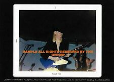 Johnny Winter In Club 1970`S Playing Rare Navy Blue Firebird 5x7 Bobby T Drums