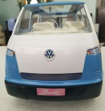 Barbie 2002 Blue VW Bus/Van with Working Door & Horn