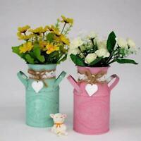 Vintage Keramik Deko Krug Vase shabby Blumen Gießkanne Landhaus Rose Kanne