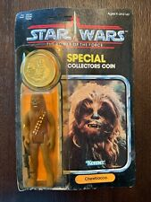 VINTAGE 1985 Kenner STAR WARS POTF CHEWBACCA w/ Collector's Coin MOC Sealed
