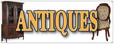 Antiques Banner Furniture Collectibles Coin Dealer Antique Shop Sign 48x120