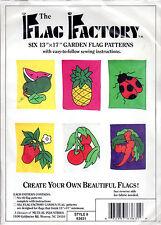 "Flag Factory Sewing Craft Pattern # 63631 ""Six 13""x17"" Garden Flag Patterns"""