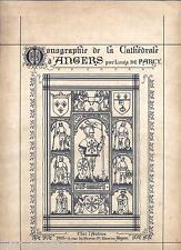 Monographie de la cathedrale d'Angers de Farcy album 1905 Desclee