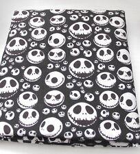 NIGHTMARE BEFORE CHRISTMAS Jack Skellington Black  Polycotton Fabric Fat Quarter