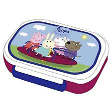 PEPPA PIG / GEORGE - Plastic Sandwich Box Lunchbox Container Size 17.5x12.5x4cm