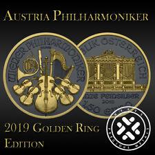 Austria 2019 Vienna Philharmonic Silver 999 1oz Golden Ring Edition
