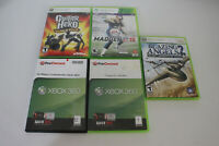 Lot of 5 Xbox 360 Games Madden 15 Tropico 4 Guitar Hero Blazing Angels Civilizat