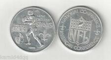 Vintage 1970 NEW ORLEANS SAINTS SAN FRANCISCO 49ERS PROGRAM FOOTBALL COIN TOKEN
