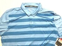 Nike Dry Stripe OLC Golf Polo Shirt Blue Striped Large NWT