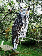 HANGING OWL BIRD SCARER, HUMANE, PEST CONTROL. #053