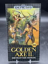 Golden Axe II 2 (Sega Genesis, 1991) Instruction Manual Guide ONLY *NO GAME*