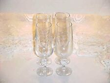 Import Associates Crystal Claudia Fluted Champagne Glass Set