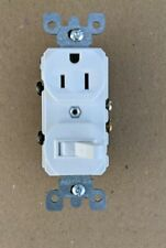 Leviton S02-05225-0WS Multi-Purpose Tamper Resistant Combination Switch Outlet.