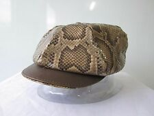 Jacaru Kangaroo/ Python leather Hat XL 61 cm for golf Cap