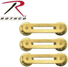 YOU GET (3) Military Issue Brass Single Ribbon Mount Rothco 71001