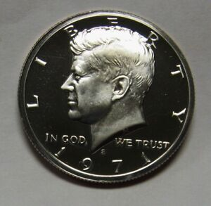 1971-S Clad Proof John F Kennedy Half Dollar Flashy Gem Examples Priced Right