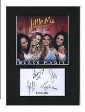 Little Mix Gift Idea Printed Autograph Mounted Photo 8x6 Display D3