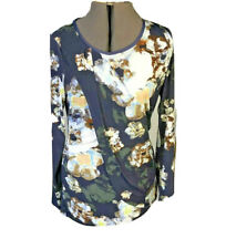 Simply Vera Wang Women M Multi-Print Top Long Sleeve Polyester Cute