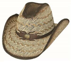 New DESERT GOLD Pecan QUALITY Toyo Straw Western Cowboy Hat Bullhide MonteCarlo