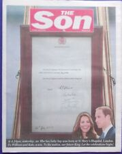 "The Sun Newspaper 23/07/13 - ""The Son""  Royal Birth Front Page"