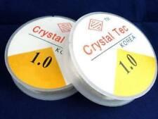 2 x 10 metre 1.0 clear crystal Tec clear beading elastic , jewellery diy craft