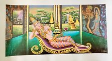 AMAZING ASIAN ART RARE LIMITED EDITION THAILAND SIGNED LITHOGRAPH OF PAINTING