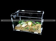 Acrylic DIY Terrestrial Reptile Terrarium Geico Snake Frog Spider Tortoise