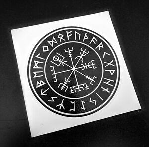 Precut Viking Vegvisir Sticker / Decal, 85mm, Thor, Stave, Norse, Odinist, Pagan