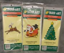 Vintage Yard Art Do It Yourself Simple Christmas Patterns Lot