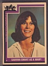 "1977 CHARLIE'S ANGELS Trading Card #146 "" Sabrina Smart as a Whip ! "" Ungraded"