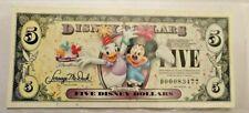 2009 D $5 Mickey and Daisy Disney Dollar Birthday Party Disney World D Series