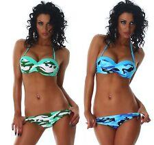 Bikini mare donna costume da bagno push up con ferretto moda estate piscina