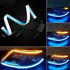2pcs Car Parts Soft Tube Led Strips Daytime Running Lights Turn Signal Lamps