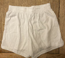 NEW Soffe Womens-Juniors Cheerleading Dance Gym Cheer Shorts - XS - White