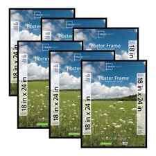 Mainstays 18x24 Basic Poster & Picture Frame, Black, Set of 6 Lightweight