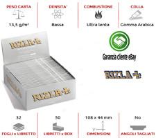 CARTINE RIZLA SILVER ARGENTO KING SIZE  LUNGHE SCATOLA DA 50 /100 LIBRETTI ✅