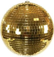 HUGE 16 INCH GOLD MIRROR DISCO BALL party supplies reflection mirrors dj novelty
